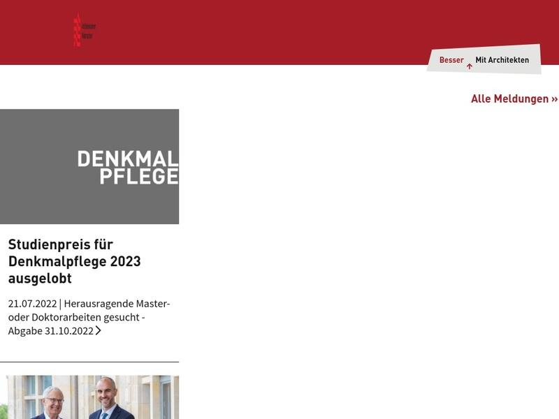Screenshot von http://www.aknds.de